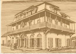 C.P. - GRAND BASSAM - CAPITALE DE LA COTE D'IVOIRE DE 1893 A 1900 - LA MAISON GANAMET & F - DESSIN DE CHRISTIANE ACHALME - Costa De Marfil