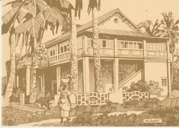 C.P. - GRAND BASSAM - CAPITALE DE LA COTE D'IVOIRE DE 1893 A 1900 - LE PALAIS DE JUSTICE - DESSIN DE CHRISTIANE ACHALME - Costa De Marfil