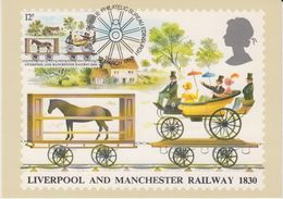 Great Britain 1980 Liverpool And Manchester Railway 1830 1v Maxicard (42403) - Maximumkaarten