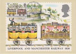 Great Britain 1980 Liverpool And Manchester Railway 1830 1v Maxicard (42404) - Maximumkaarten
