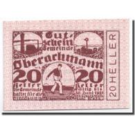 Billet, Autriche, Oberachmann, 20 Heller, Agriculture Et Industrie, 1920 - Autriche