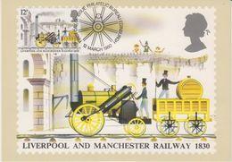 Great Britain 1980 Liverpool And Manchester Railway 1830 1v Maxicard (42405) - Maximumkaarten