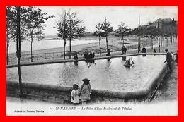 CPA (44) SAINT-NAZAIRE.  La Pièce D'eau Boulevard De L'Océan, Animé, Petit Bateau Dans Le Bassin...E193 - Saint Nazaire