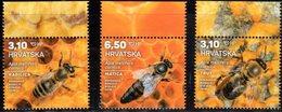 CROATIA , 2019, MNH, INSECTS, BEES, 3v - Honeybees