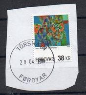 FEROE - FAROE - Sur Fragment - Oblitéré - Unstuck - Stamped - 2013 - LE PORT D'OUEST - THE WESTERN PORT - ART - - Islas Faeroes