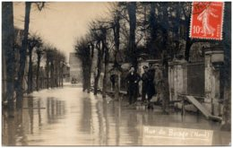 93 ILE SAINT-DENIS - Inondations - Rue Du Bocage (Nord) - Carte-photo - Saint Denis
