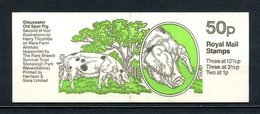 Gd Bretagne 1983 Carnet N° C606a-2 Complet ** Neuf MNH Superbe C 12 € Animaux Rares Ferme Cochon Gloucester Elizabeth II - Carnets