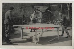 Stalag-soldat Jouant Au Ping Pong- Nommé Au Dos-envoi à Montpellier-R. Kalisch Photographe 13,6 X 8,8cm - Guerre, Militaire