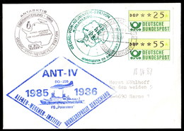 """ANTARCTIC,Germany,ANT-IV,FS""""POLARSTERN"""",3 Cachets+ships Postmark + ,look Scan !! 14.3-07 - Stamps"""