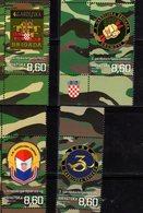 CROATIA, 2019, MNH,CROATIAN WAR OF INDEPEDENCE, MILITARY BRIGADES, COAT OF ARMS, 4v - History