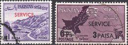 PAKISTAN 1961 - PASSO DEL KHYBER + RIVENDICAZIONE ZONE CONTESE - 2 VALORI USATI - Pakistan