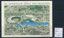 GERMANY   Mi.Nr. Block 7 I Olympische Sommerspiele, München - Plattenfehler I - Michel 200€  - Used - [7] Repubblica Federale