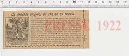 Presse 1922 Chasse Au Requin Aux îles Salomon  226F - Vecchi Documenti