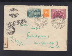 Hungary Cover 1936 To Germany Censor Special Cancel - Ungheria