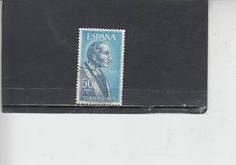 SPAGNA 1966 - Unificato  A 297 - S. Damaso - Usati
