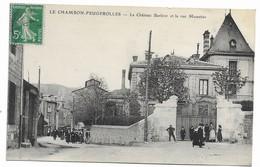 42 LE CHAMBON -FEUGEROLLES Le Chateau Barbier Et La Rue Moustier - Le Chambon Feugerolles
