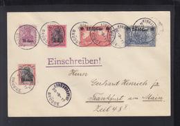 Dt. Reich Besetzung Belgien R-Brief 1917 Kommandatur Brügge - Occupation 1914-18