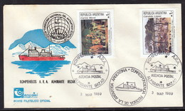 """ANTARCTIC,Argentina,3.3.1989,3 Cachets """"ALMIRANTE IRIZAR"""",DAMAGED By Fire , Look Scans !! 14.3-26 - Stamps"""