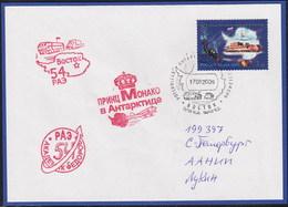 ANTARCTIC,MONACO/Russia,2009,RAE 54,3 Cachets,Prinz ALBERT II Visit Vostok Look Scan !! 21.2-45 - Stamps