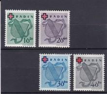 Französische Zone, Baden Nr. 42/45A** (T 11325) - Französische Zone