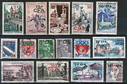 REUNION - LOT TIMBRES CFA OBLITERES - RU242 - Used Stamps