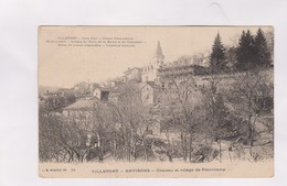 CPA DPT 48 VILLEFORT, ENVIRONS, CHATEAU ET VILLAGE DE PLANCHAMP En 1917! - Villefort