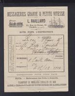 France Messageries Grande & Petite Vitesse Raillard Paris 1904 - Frankreich