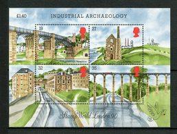 Gde BRETAGNE 1989 N° 1388/1391 ** Neufs MNH  Superbes C 11,50 € Archéologie Industrielle Ponts Mine Moulin London 90 - 1952-.... (Elizabeth II)