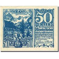 Billet, Autriche, Hinterstoder, 50 Heller, Blason, 1920 SPL Mehl:FS 377c - Autriche