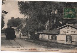 CPA B77SAINT BREVIN L'OCEAN La Halte Du Pointeau-train-vélo-postes??-hôtel Du Chalet - Saint-Brevin-l'Océan