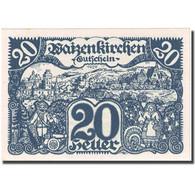 Billet, Autriche, Waizenkirchen, 20 Heller, Paysage, 1920 SPL Mehl:FS 1128b - Autriche