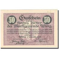 Billet, Autriche, Aflenz, 50 Heller, Rue, 1920, 1920-11-01, SPL, Mehl:FS 7a - Autriche