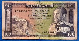Ethiopie  - 100 Dollars  Pick # 29  -  état  B+ - Etiopía