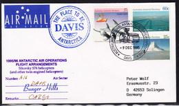 ANTARCTIC,DAVIS, AAT 1995,Helicopter-Flight, 2 Cachets , Look Scan !! 21.2-05 - Autres