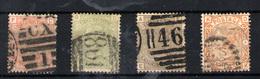 Gran Bretaña Nº 58/61. Año 1867-1880 - Oblitérés
