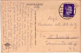"""Latvia Lettland PC German Time Cancel CESIS """"E"""" 23.4.1943. - Lettonie"""
