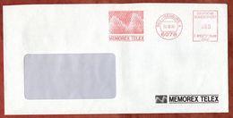 Brief, Francotyp-Postalia F81-3490, Memorex Telex, 80 Pfg, Neu-Isenburg 1988 (72608) - BRD