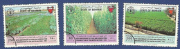 BAHRAIN MNH SPECIMEN GUM SIDE WASH 1995 50th ANNIVERSARY OF FOOD AND AGRICULTURE ORGANIZATION OF THE UNITED NATIONS - Bahreïn (1965-...)