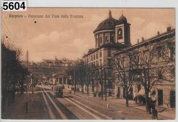 Bergamo - Panorama Dal Viale Della Stazione - Tram, Animee 23.7.1917 - Bergamo