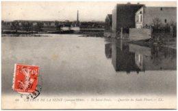 93 ILE SAINT-DENIS - La Crue De La Seine - Quartier Du Saule Fleuri - Saint Denis
