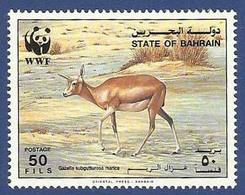 BAHRAIN MNH 1993 DEER ANIMALS ANIMAL WWF WORLD WIDE FUND - Bahreïn (1965-...)