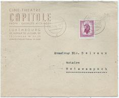 Brief - Luxembourg, Ciné Théâtre Capitole, Propr.: Georges Reckinger - Stempel 20-08-1946 - Luxembourg