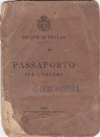 HOMBRE MAN HOMME AÑO YEAR 1908 ITALIA ITALIE ITALY PASAPORTE PASSPORT PASSAPORTO  - BLEUP - Israele