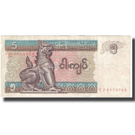 Billet, Myanmar, 5 Kyats, KM:70a, TTB - Myanmar