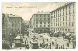 SAVONA - PIAZZA GIULIO II - VIA LUIGI CORSI - TRAM...(cachet Au Dos Posto Di Ristoro - Savona....) - Savona