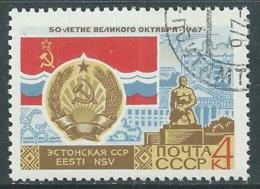 1967 RUSSIA USATO RIVOLUZIONE DI OTTOBRE 4 K - V22-8 - 1923-1991 URSS