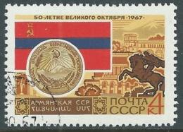 1967 RUSSIA USATO RIVOLUZIONE DI OTTOBRE 4 K - V23-4 - 1923-1991 URSS
