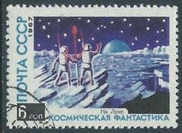 1967 RUSSIA USATO SPAZIO FANTASCIENZA COSMONAUTICA LUNA 6 K - V22-4 - 1923-1991 URSS