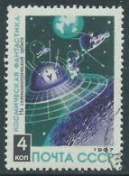 1967 RUSSIA USATO SPAZIO FANTASCIENZA COSMONAUTICA STAZIONE 4 K - V22-4 - 1923-1991 URSS