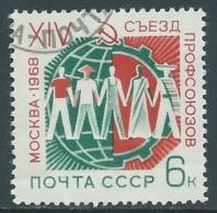1968 RUSSIA USATO CONGRESSO DEI SINDACATI A MOSCA - V22-6 - 1923-1991 URSS